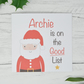 Personalised Christmas Card - Good List