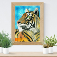 Tiger Head Art Printable Download Big Cat nursery decor Kitty poster