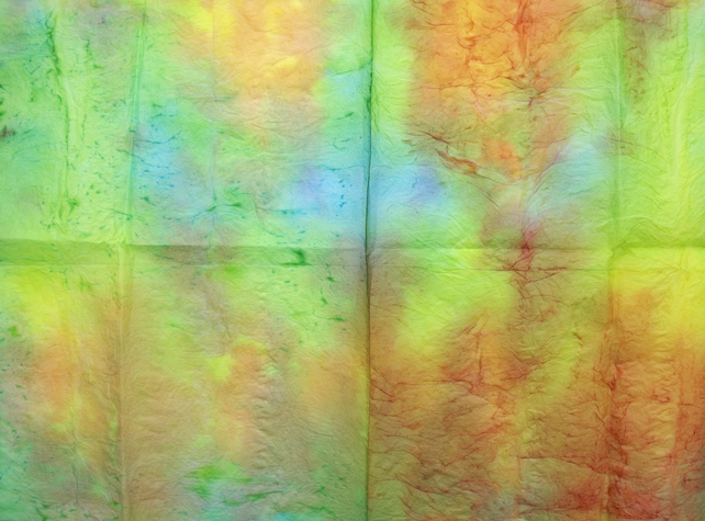 Hand dyed Tissue Paper