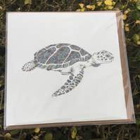 Tropical Turtle greeting card OFFER