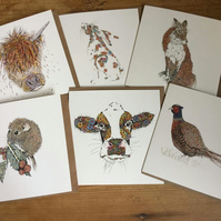 6 x Countryside collection cards OFFER