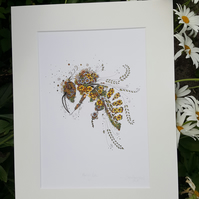"2 x Honey Bee prints  (12 x 15"") limited offer"