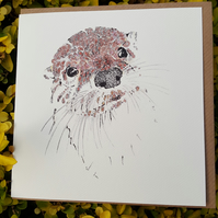 Otterly Gorgeous Greeting card