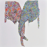 'In Harmony' (Elephants) 12 x 15'' mounted, ready to frame