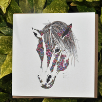 Barley-Sugar the Pony Greeting card