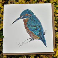 Stunningly beautiful Kingfisher Greeting card