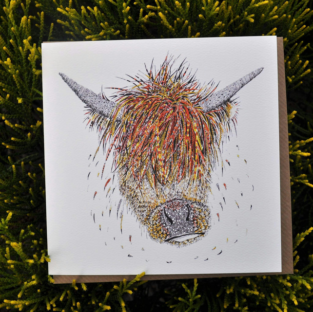 Horace Highland Cow Greeting card