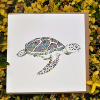 Tropical Turtle Greeting card