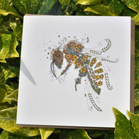 Beautiful Honey Bee card