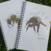 2 x Notebooks (one x a5 Bumble bee and one x a5 Honey Bee)