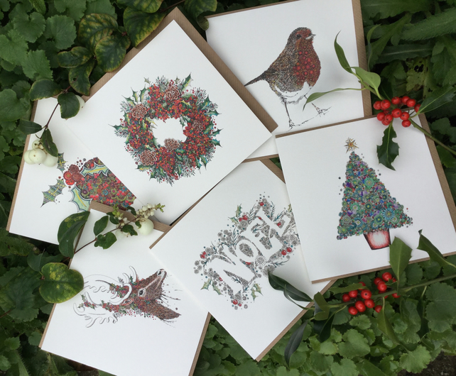 6 Christmas designs (Individually wrapped) offer