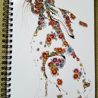 Floral Hare a5 Notebook (lined)