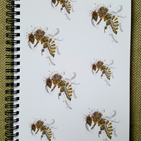 Bees a5 Notebook (lined)