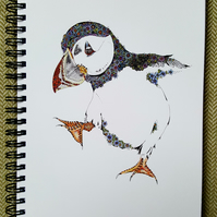 Puffin a5 Notebook (lined)