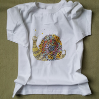 Cicely the Snail printed T shirt 7-8 years