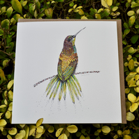 Bee -eater bird blank card