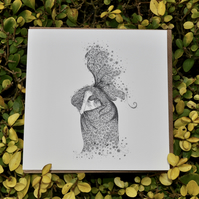Weeping fairy Greeting card