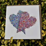 Double Heart Greeting card