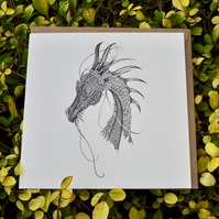 Dragon Greeting card (blank)