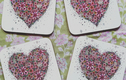 Floral Heart Coasters
