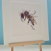 "10 x 10"" Honey Bee print"
