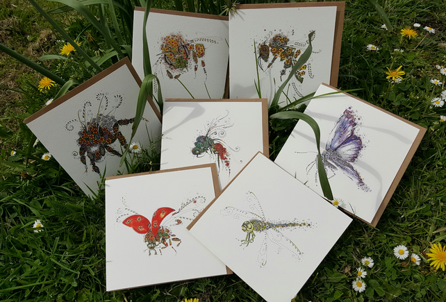 Insects Collection x 7 cards