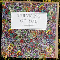 Thinking of you purple floral card
