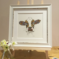 Framed Marigold the Cow offer