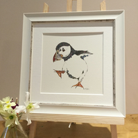 Small Framed Dancing Puffin
