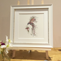 Small Framed Swirly Hummingbird offer