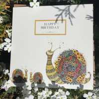 Happy Birthday Snails Card