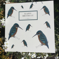 Happy Birthday Kingfisher card