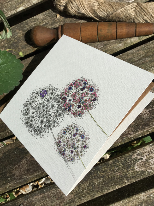 Just Alliums Greeting Card