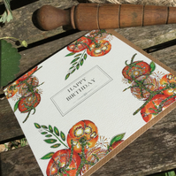 'Happy Birthday' vine ripened Tomatoes Greeting card