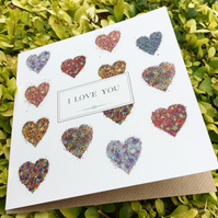 I Love you hearts Greeting Card