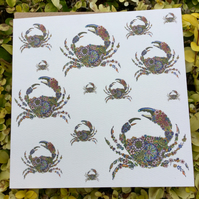 Coastal Britain Multiple Crabs Blank Card