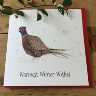 Pheasant Christmas card