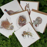 Mixed Countryside pack of 6 cards