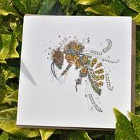 6 x Honey Bee cards offer free postage