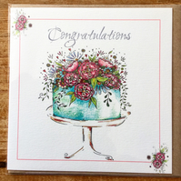 Congratulations Cake greeting card