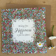 'Happiness in your new home' greeting card
