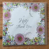 'A Huge Thank you'  Greeting card