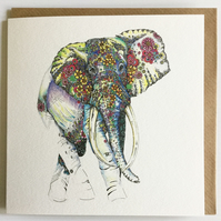 Endangered Species 'Sumatran Elephant' Greeting Card