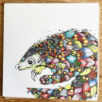 Pangolin Greeting Card