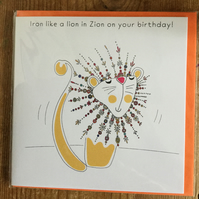 Iron like a Lion in Zion Greeting Card