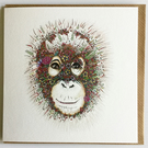 Orangutan individual Greeting card
