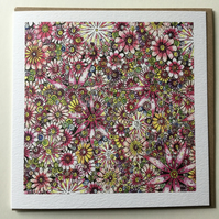 Beautiful pink floral Greeting card
