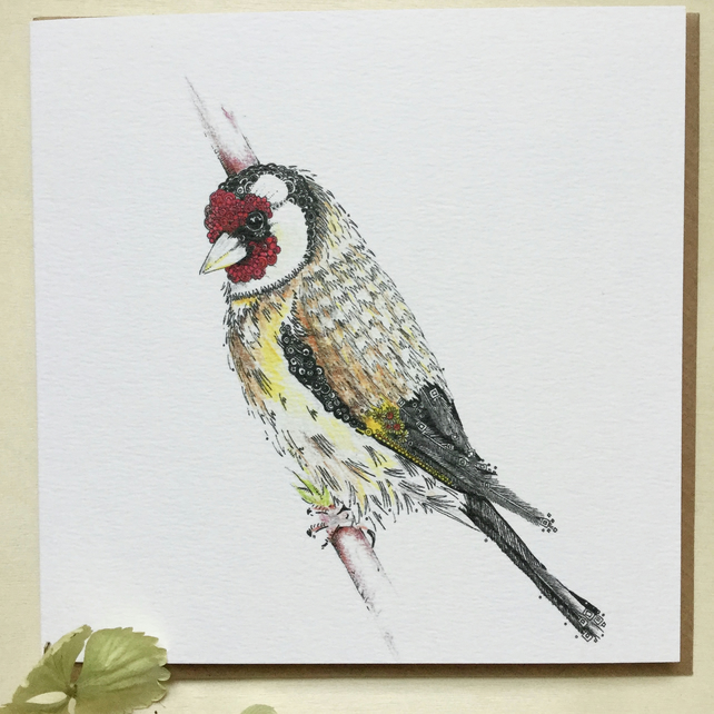 Gold Finch Greeting card