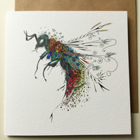 Cuckoo Wasp greeting card
