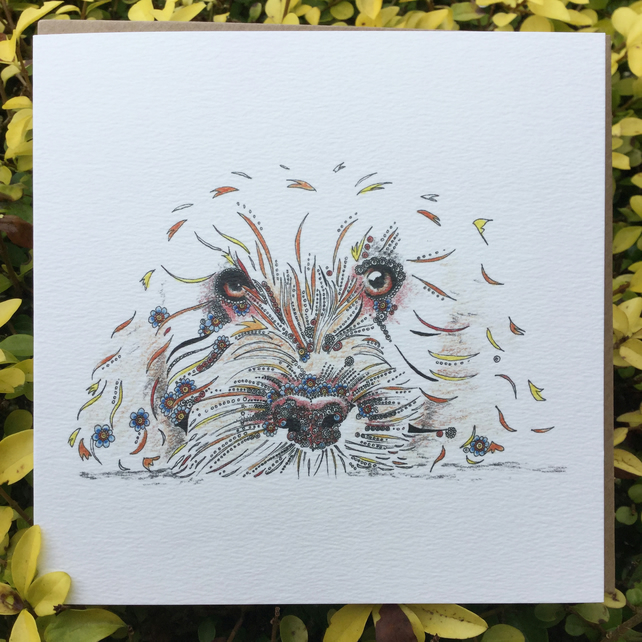 Cockapoo dog lovers Greeting Card
